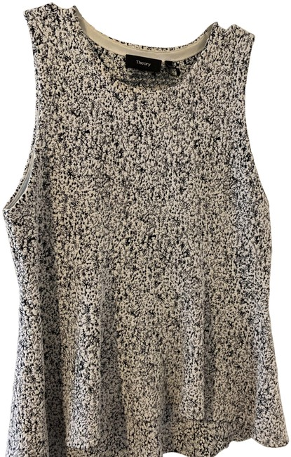 Item - Black and White Flecked Tank Top/Cami Size 8 (M)