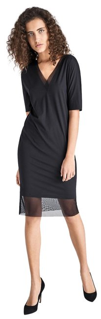 Item - Black Pure Tulle Mid-length Work/Office Dress Size 6 (S)
