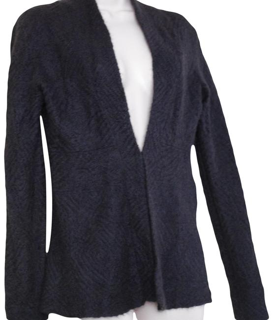 Item - Dark Gray Charcoal Mohair Cotton Wool Blend Sweater Cardigan Size 2 (XS)