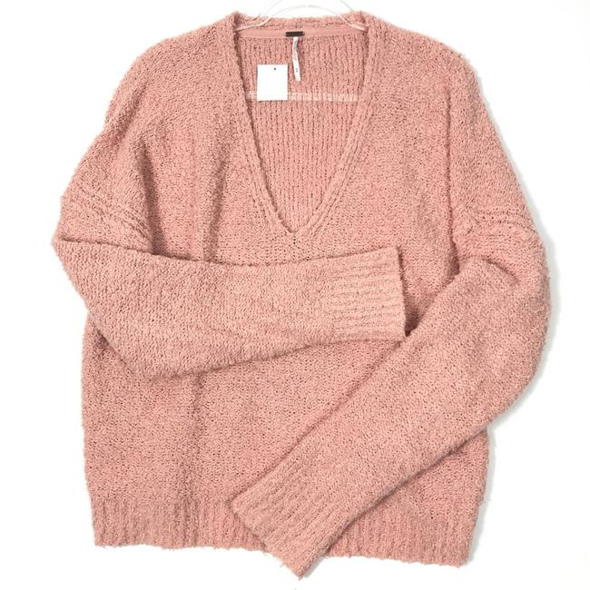 Item - Finders Keepers Fuzzy Knit V-neck Pink Sweater