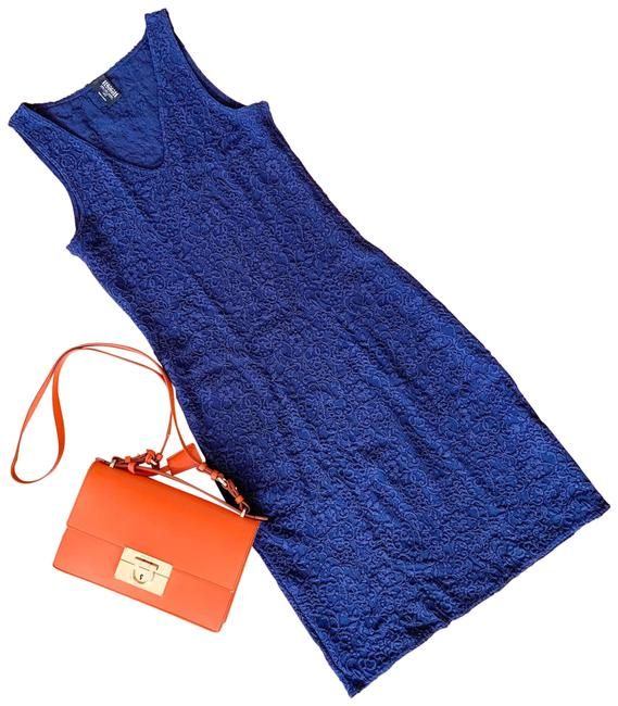 Item - Blue Charmelace Mid-length Night Out Dress Size 6 (S)