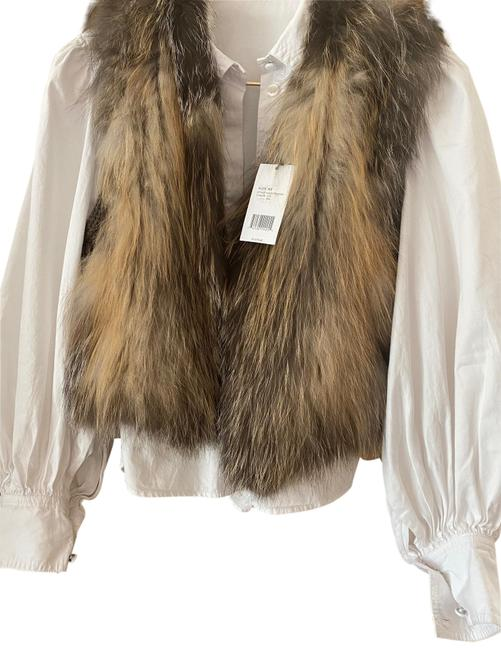 Item - Brown and Camel Fur In Natural Fox Vest Size 0 (XS)