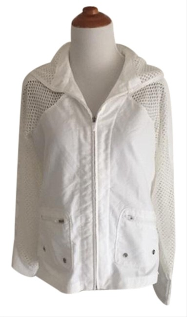Item - White Coverup Jacket Activewear Size 8 (M)