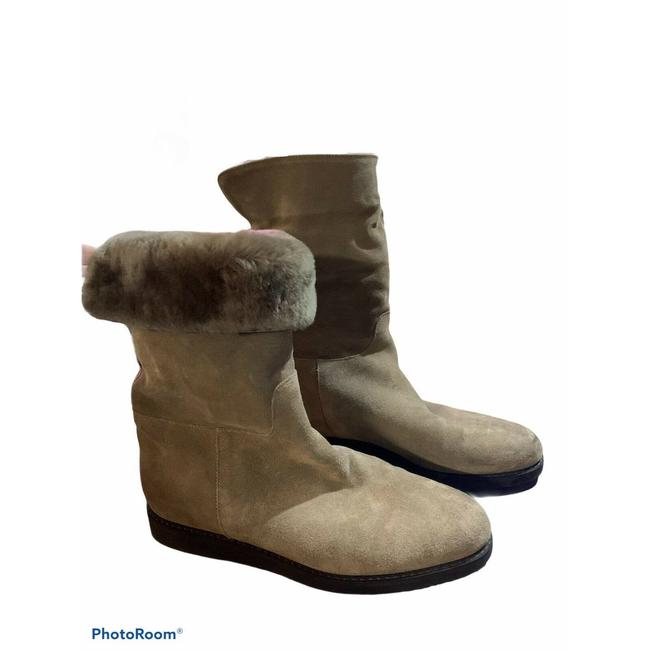 Item - Tan My Ease Low Shearling Moss Suade 7.5m Boots/Booties Size US 7.5 Regular (M, B)