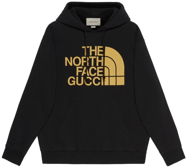 Item - Black The North Face Collab Gold Web Print Logo Medium M Sweatshirt/Hoodie Size 8 (M)