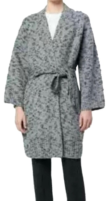 Item - Gray Marked Wool Blend Belted Coat Size 2 (XS)