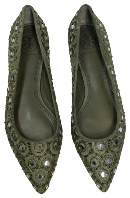 Item - Green Suede Yasmin Flats Size US 5.5 Regular (M, B)