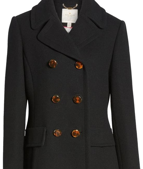 Item - Black Double Breasted Wool Coat Size 4 (S)