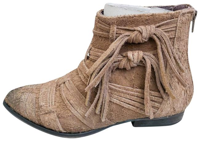 Item - Tan Decades Taupe Distressed Ankle Boots/Booties Size EU 36 (Approx. US 6) Regular (M, B)