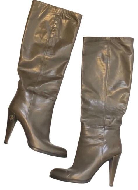 Item - Khaki Leather Knee High Boots/Booties Size US 9.5 Regular (M, B)
