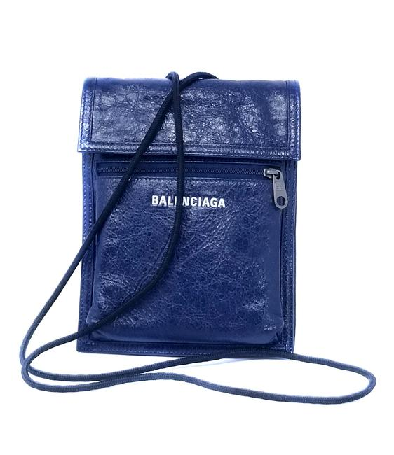 Item - Explorer Pouch Strap Blue Arena Leather Cross Body Bag