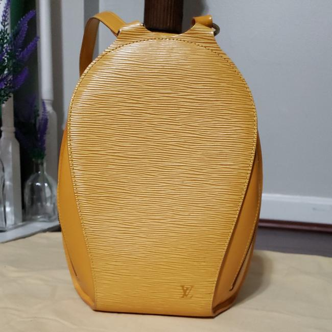 Item - Mabillon Ellipse In Yellow Leather Backpack