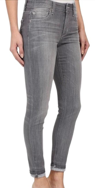 Item - Grey Light Wash Cool Off The Markie Crop Skinny Jeans Size 00 (XXS, 24)