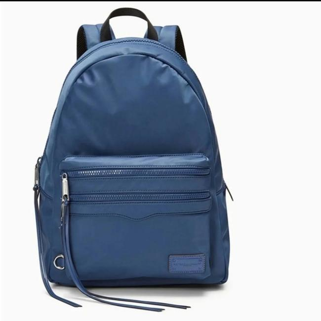Item - Large 2 Zip Navy Nylon Backpack