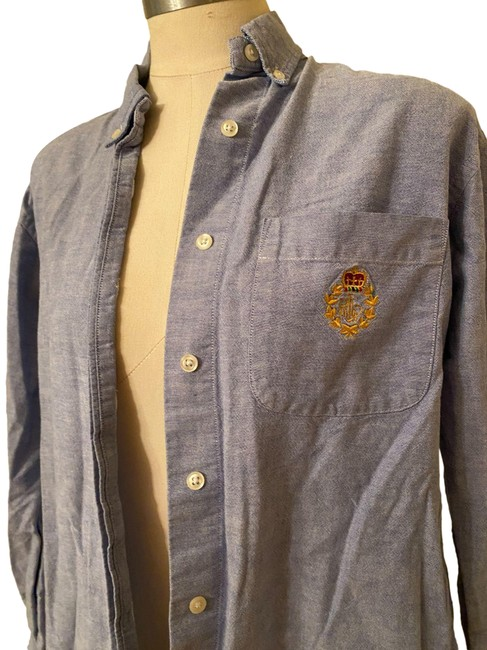 Item - Multicolor Oxford Shirt Button-down Top Size 6 (S)