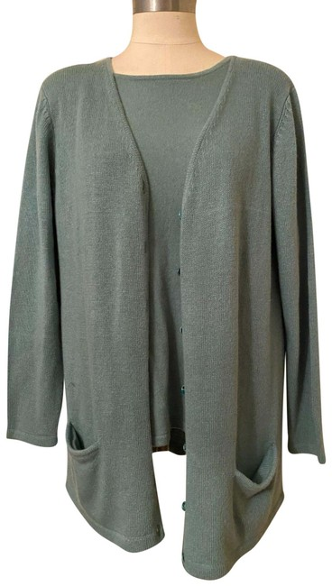 Item - Green Cashmere and Tang Cardigan Size 12 (L)