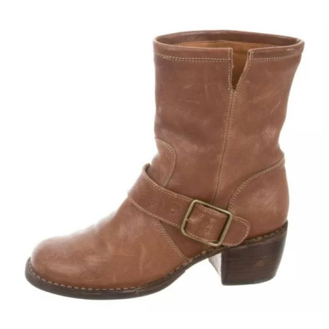 Item - Tan Leather Buckle Calf Boots/Booties Size US 7 Regular (M, B)