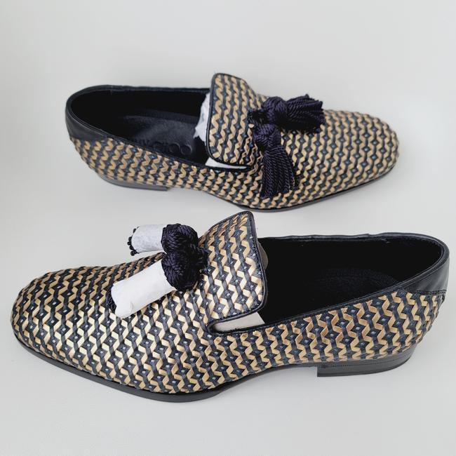 Item - Black and Gold Men's 'foxley' Loafers 41.5 Flats Size US 8.5 Wide (C, D)