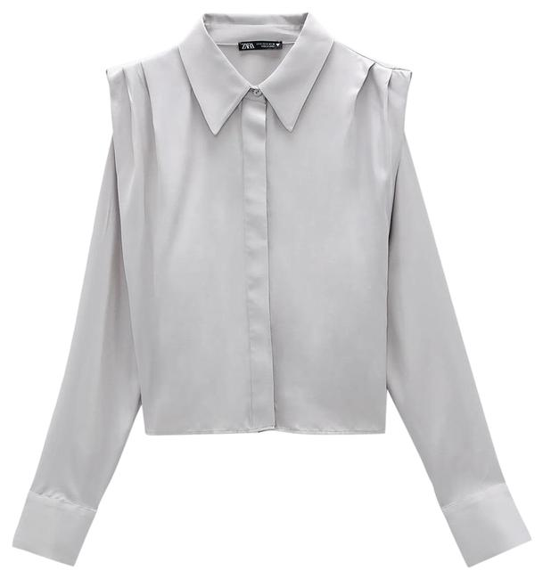 Item - Ruched Satin Effect Shirt Top