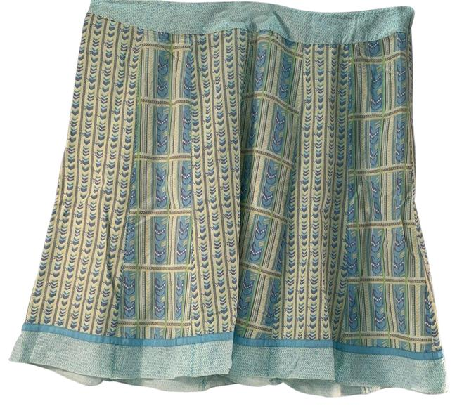"Item - Blue ""Fresh Air Collection"" Linen-blend Skirt Size 22 (Plus 2x)"