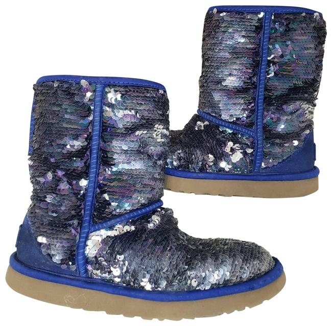 Item - Blue Mermaid Sequence Boots/Booties Size US 6 Regular (M, B)
