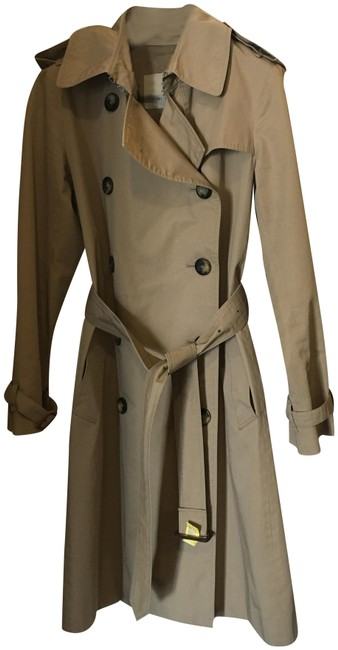 Item - Khaki Tan London Double Breasted Wool Liner Coat Size 6 (S)
