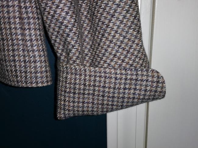 Fendi Brown and Gray Houndstooth Jacket Image 6