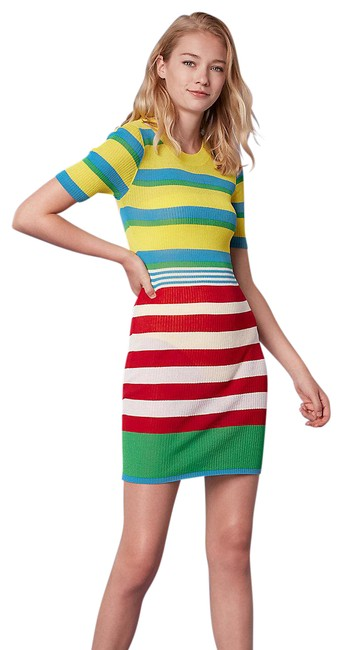 Item - Multi Color Cadmium Sweater Short Casual Dress Size 8 (M)