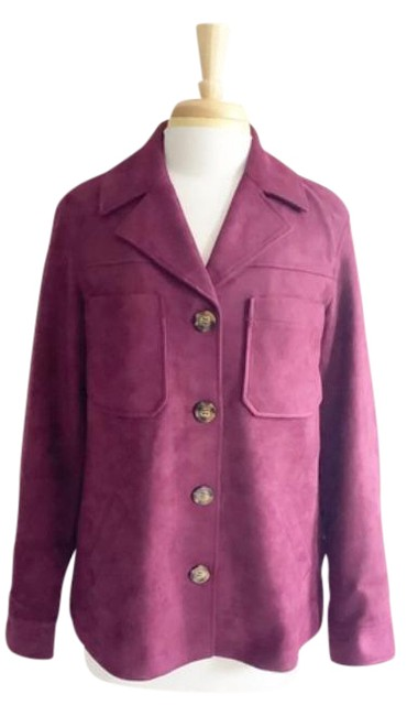 Item - Red Purple Rachael Burgundy Suede S Jacket Size 4 (S)