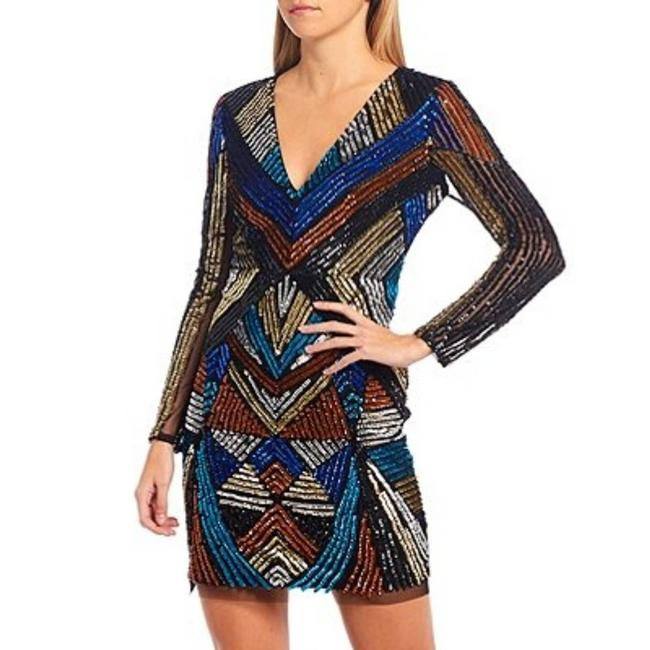 Item - Black Hand Beaded Allover Sequin Night Out Dress Size 0 (XS)