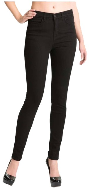 Item - Black Coated Maria High-rise In Hewson Skinny Jeans Size 27 (4, S)