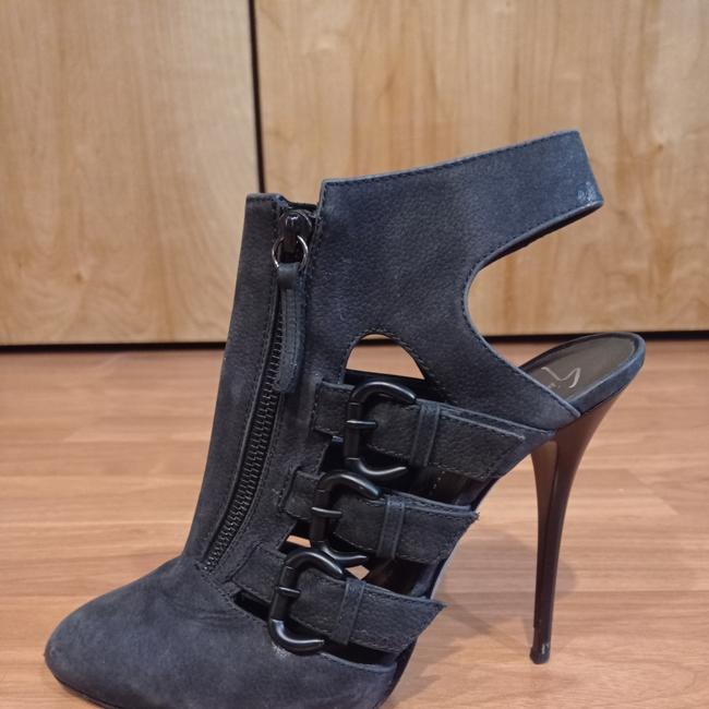 Item - Dark Grey Strappy Ankle Boots/Booties Size EU 40.5 (Approx. US 10.5) Regular (M, B)