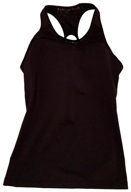 Item - Black Spiral Support Activewear Top Size 6 (S)
