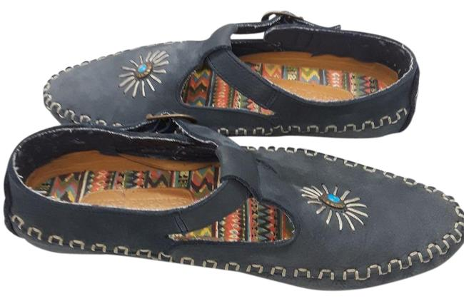 Item - Blue Embellished Suede Driving 9n Flats Size US 9 Narrow (Aa, N)
