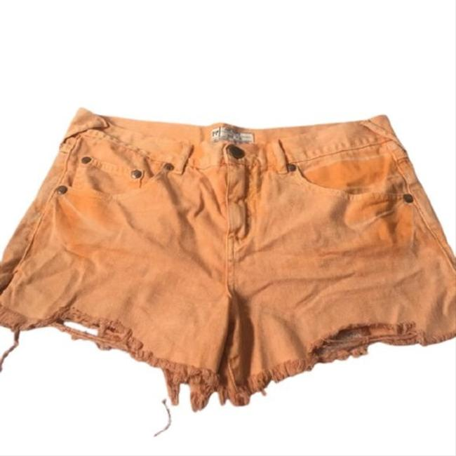 Item - Orange Distressed Jean Shorts Size 0 (XS, 25)