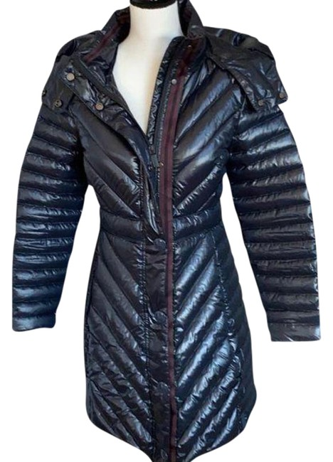 Item - Blue Navy Long Puffer Coat Size 4 (S)