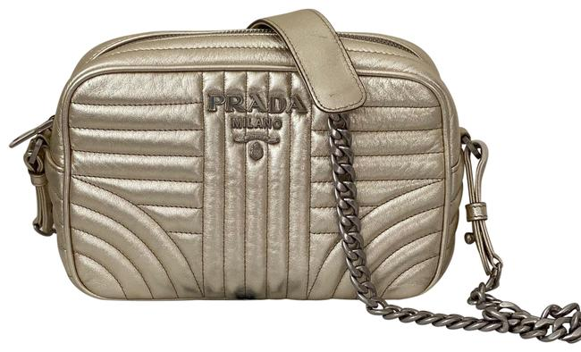 Item - Diagramme Quilted Gold Leather Cross Body Bag