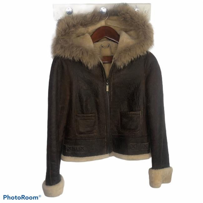 Item - Brown Leather Coat Size 8 (M)