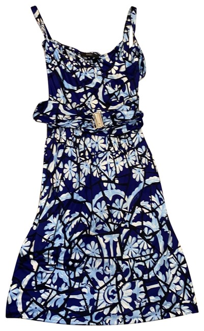 Item - Blue Black White Sleeveless Short Night Out Dress Size 4 (S)
