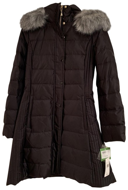Item - Black A Line Down Coat Size 2 (XS)