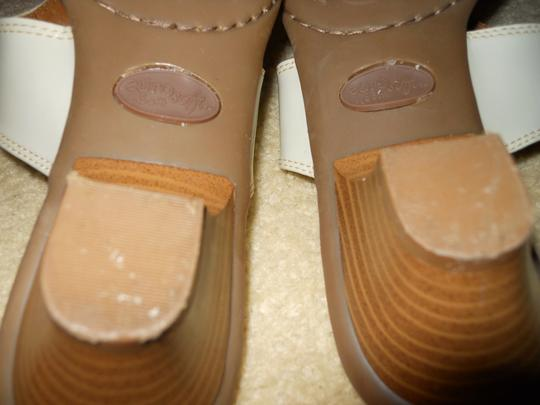 Euro soft Leather Thong Mbc cream Sandals