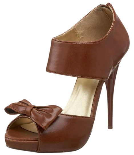 Michael Antonio Stiletto Hidden Platform brown Pumps