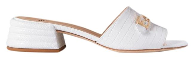Item - Promenade Croc-effect Leather Mules Sandals Size EU 39 (Approx. US 9) Regular (M, B)