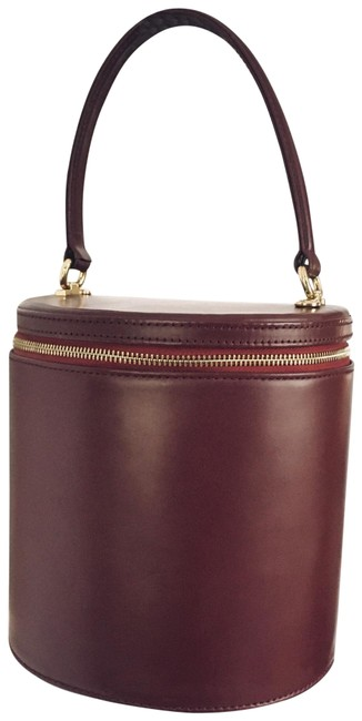 Item - Bucket Bag Vitti Top Handle Zip Around Maroon Leather Satchel