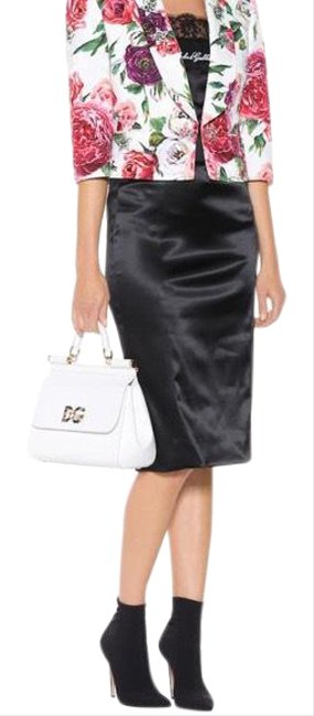 Item - Black Dolce & Gabbana Satin Pencil Skirt Size 8 (M, 29, 30)