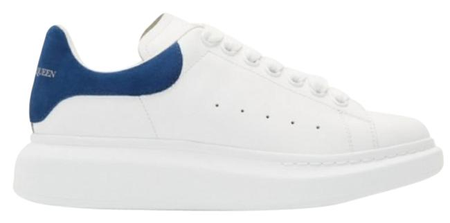 Item - White Blue Suede Oversized Chunky Sneakers Size EU 39.5 (Approx. US 9.5) Regular (M, B)