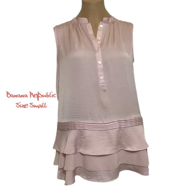 Item - Soft Pink Button Down Tank Top/Cami Size Petite 6 (S)