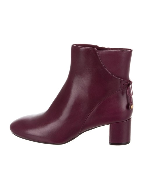 Item - Purple Laila Leather Ankle Deep Boots/Booties Size US 7 Regular (M, B)