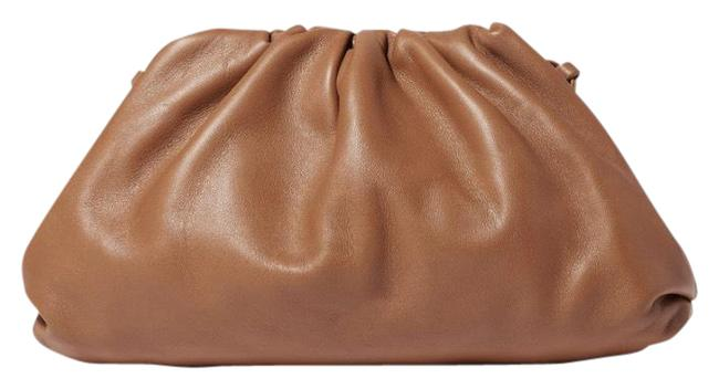 Item - Clutch The Pouch Mini Gathered Brown Leather Cross Body Bag