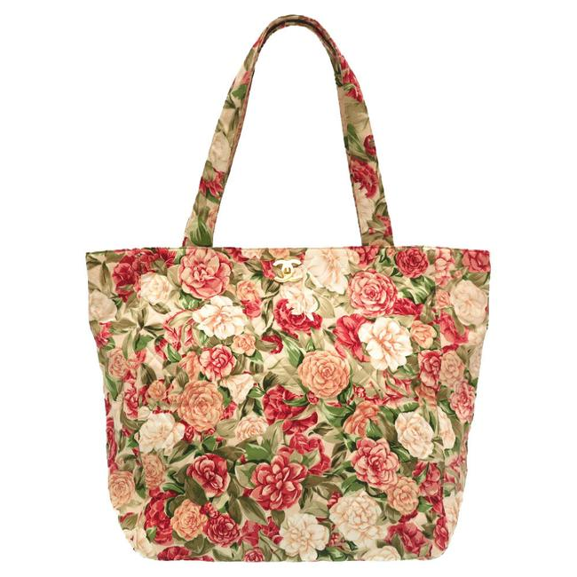 Item - Bag Flower Pattern Cocomark 0170 Multi-color Canvas Tote